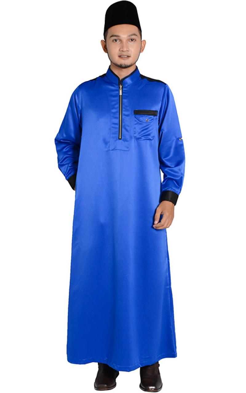 Father Son Collection Jubah Lelaki Hesyam Blue Jubah Arabic