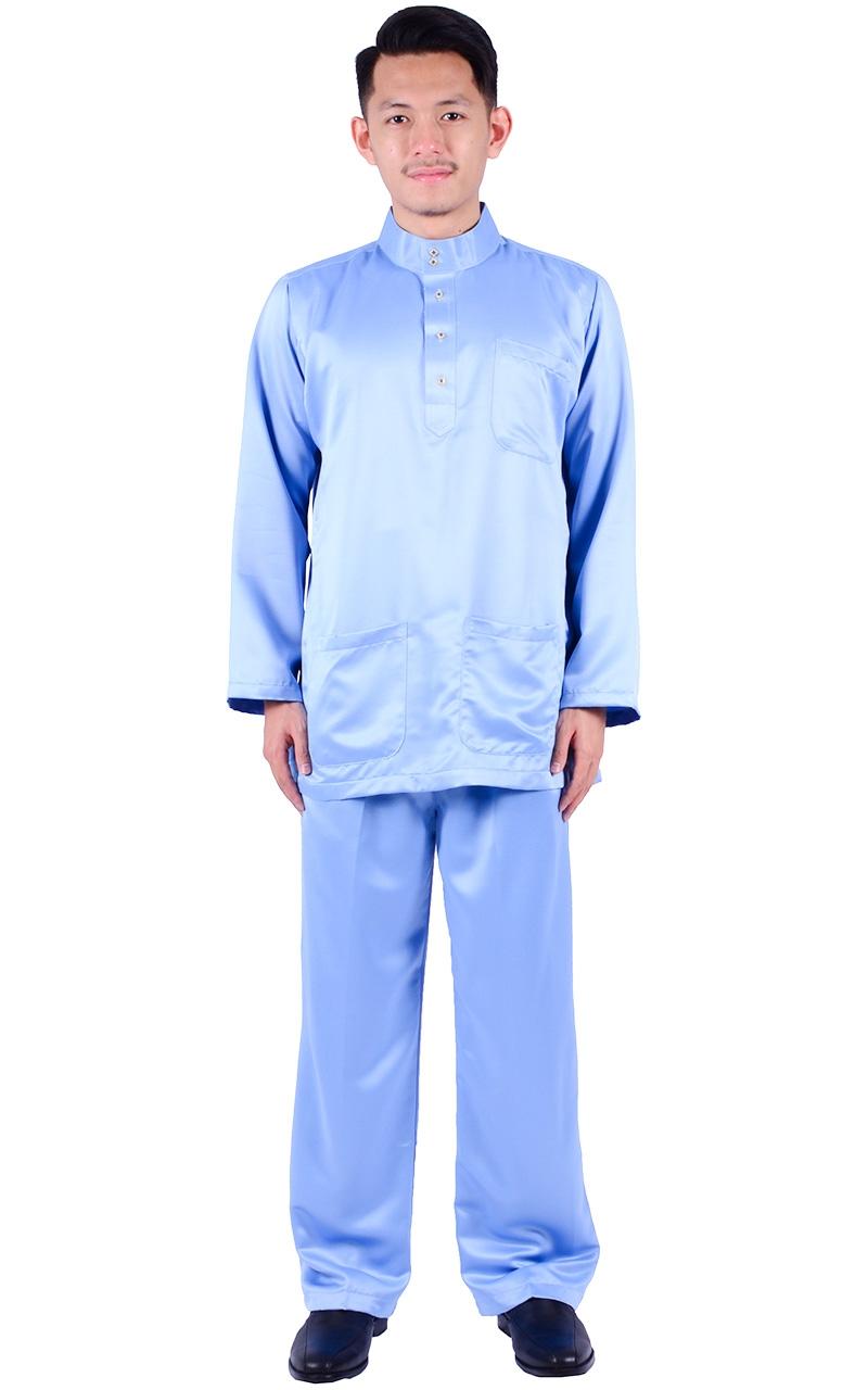 BAJU MELAYU HAFIY - SKY BLUE - Baju Melayu - Men e7ce4a54d1