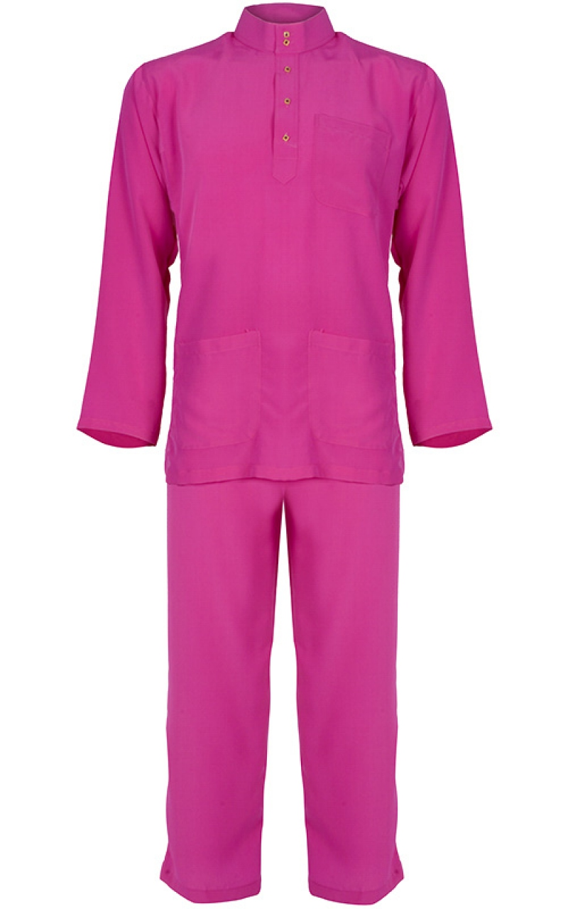 baju melayu adry deep pink