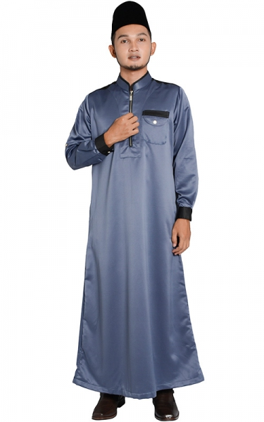 (FATHER & SON COLLECTION) JUBAH LELAKI HESYAM - DARK GREY
