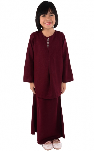 (FAMILY SET) KIDS BAJU KURUNG CATALINA - MAROON