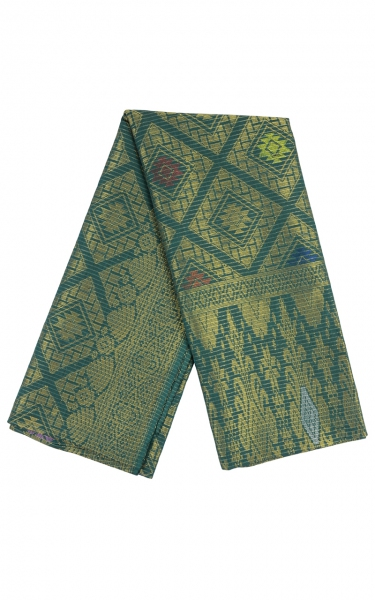 SAMPIN SONGKET IFFAT i - DARK GREEN GOLD