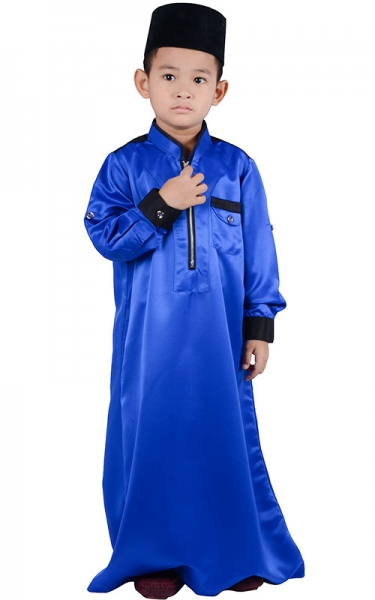 (FATHER & SON COLLECTION) KIDS JUBAH HESYAM - BLUE