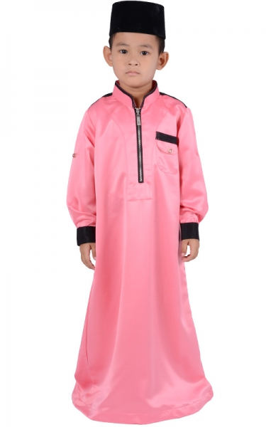 (FATHER & SON COLLECTION) KIDS JUBAH HESYAM - DEEP PINK