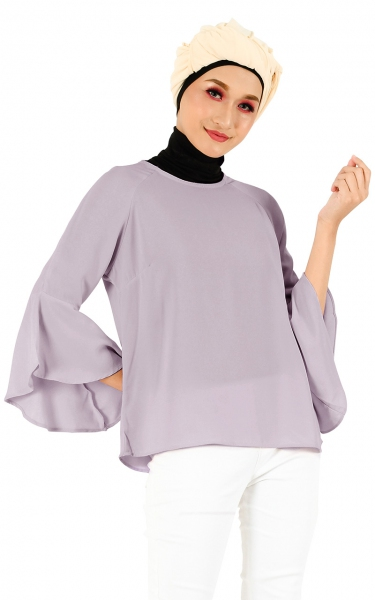 LEETA FLARE BLOUSE - DUSTY ROSE