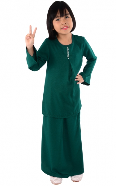 (FAMILY SET) KIDS BAJU KURUNG CATALINA - EMERALD