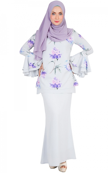 DIYA MODERN BAJU KURUNG SET - BLUE WILLOW