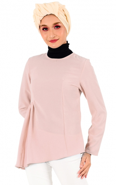 EKA GATHER BLOUSE - BLUSH