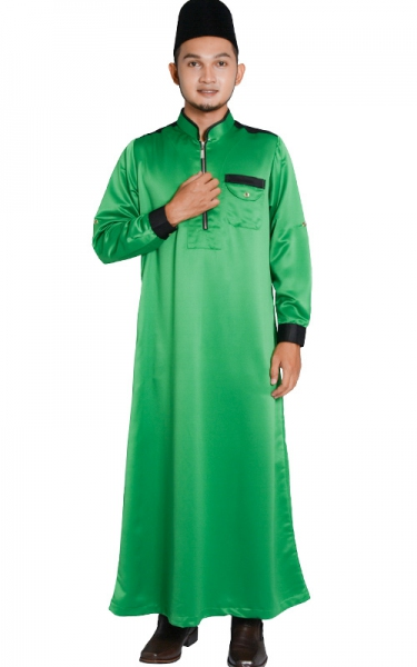 (FATHER & SON COLLECTION) JUBAH LELAKI HESYAM - FOREST GREEN