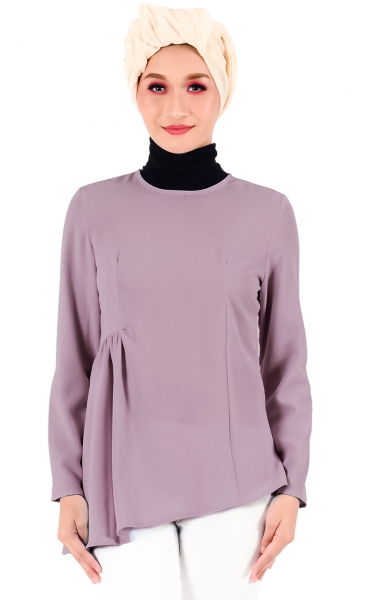 EKA GATHER BLOUSE - DUSTY ROSE