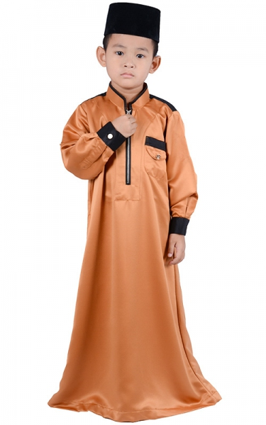 (FATHER & SON COLLECTION) KIDS JUBAH HESYAM - BROWN